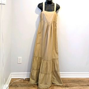 Object boho tan prairie dress medium